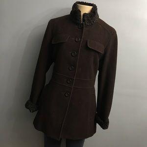 Worthington brown basic coat medium